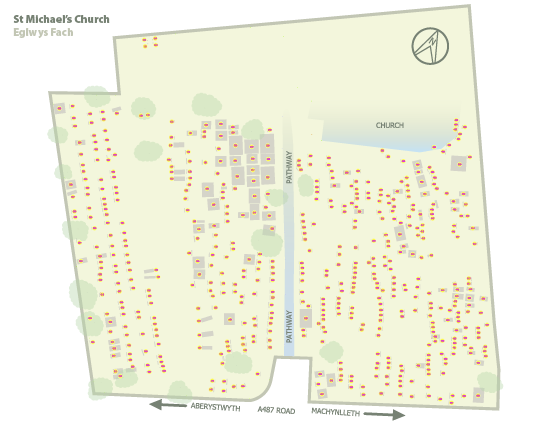 Map of the graveyard